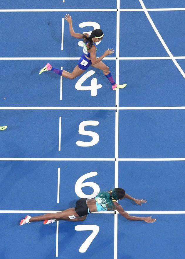 Shaunae Miller went all in to win her women's 400m