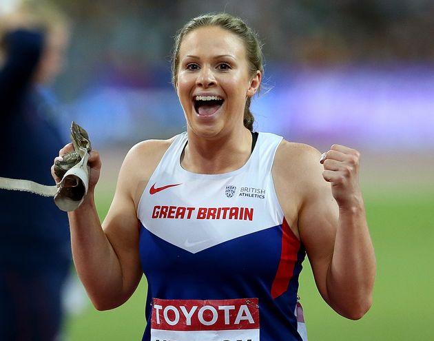 Sophie Hitchon won bronze in the hammer