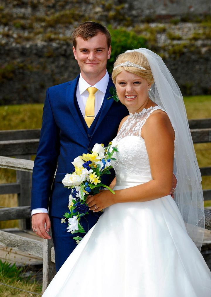Natalie and John on their special day.