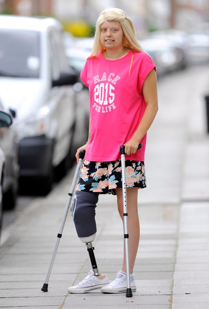 Natalie participated in the Race for Life last year on crutches.