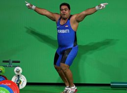 Everyone's Favourite Olympic Flag-Bearer Is Back For His Event With More Incredible Moves