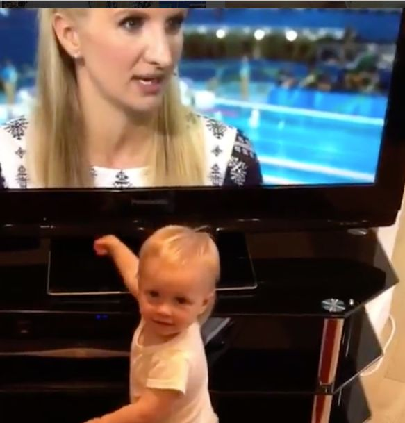 Rebecca Adlington Brought To Tears By Video Of Baby Summer Watching Her Present The Olympics On