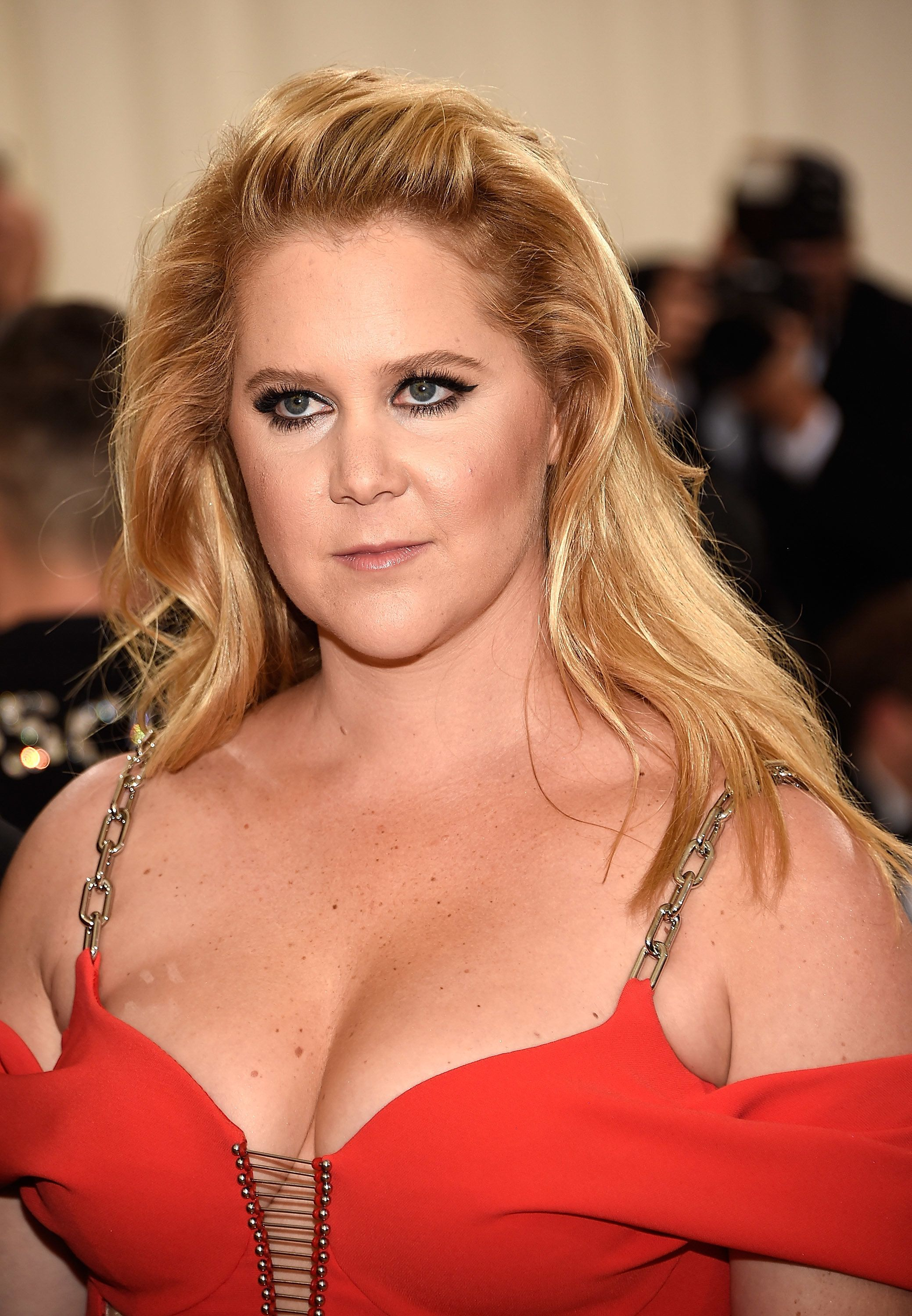 NEW YORK, NY - MAY 02:  Amy Schumer attends 'Manus x Machina: Fashion In An Age Of Technology' Costume Institute Gala at Metropolitan Museum of Art on May 2, 2016 in New York City.  (Photo by Kevin Mazur/WireImage)