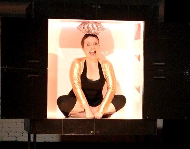 """Dominique Salerno in """"The Box Show,"""" currently showingat FringeNYC."""