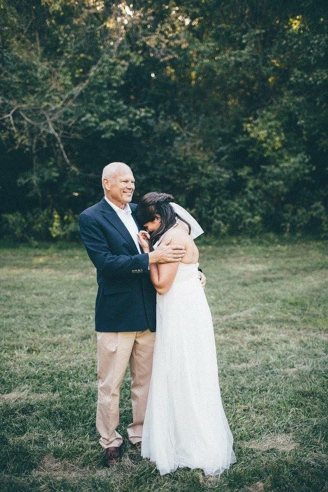 Alexandra & her father on her wedding day, two months after his diagnosis.