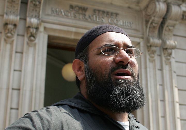 Anjem Choudary, the leader of the dissolved militant group al-Muhajiroun, arrives at Bow Street Magistrates Court in London J