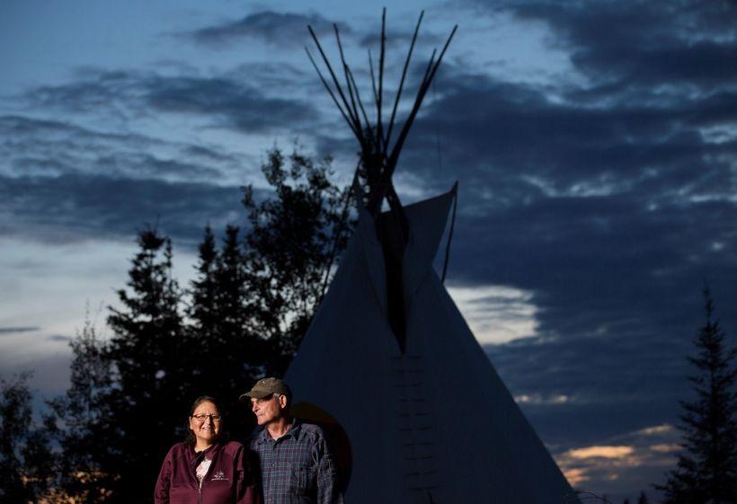 Sophia and Rabliauskas, at Poplar River, Manitoba.