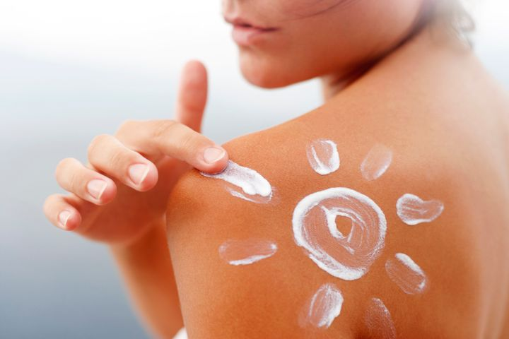 You would never apply sunscreen like this, would you?