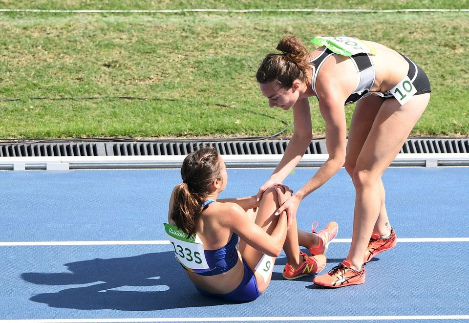 These Olympic Runners Fell, Then Helped Each Other To The