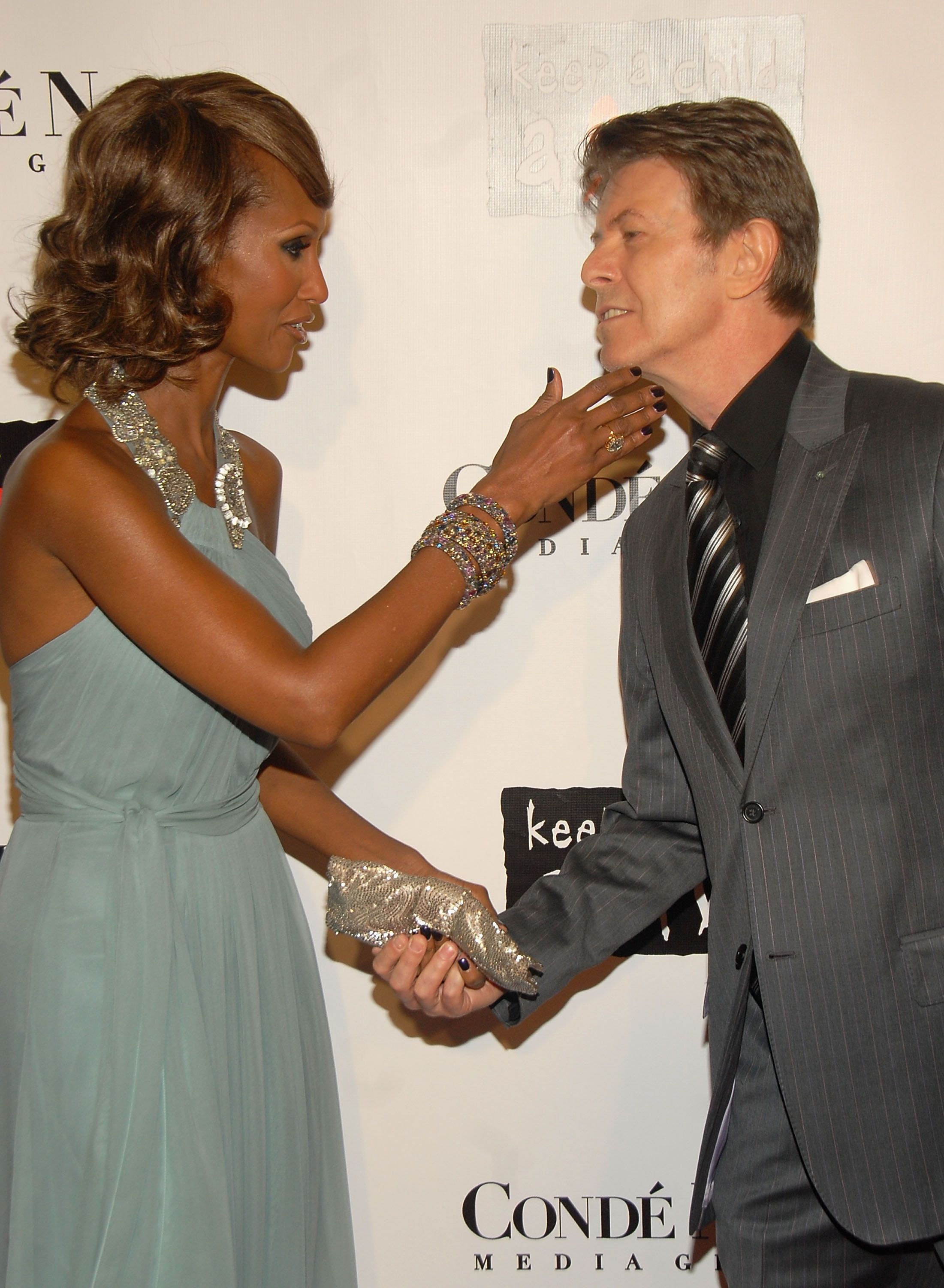 NEW YORK - OCTOBER 25:  Iman and David Bowie at The 4th Annual 'Black Ball'Concert for 'Keep A Child Alive' Arrivals  (Photo by Theo Wargo/WireImage)