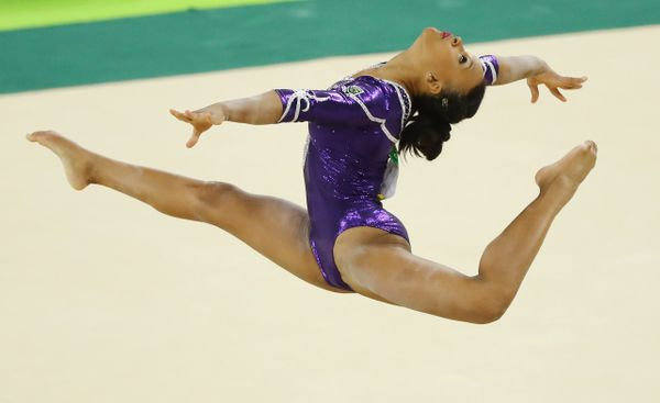 "Brazilian gymnast Rebeca Andrade slayed her floor routine <a href=""http://www.huffingtonpost.com/entry/rebeca-andrade-be"
