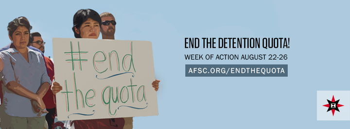 """American Friends Service Committee holds a <a href=""""http://afsc.org/endthequota"""" target=""""_blank"""">national week of action</a>"""