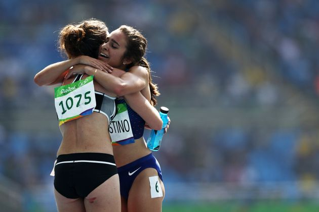 Abbey D'Agostino of the United States (right) and Nikki Hamblin of New Zealand have inspired the story...