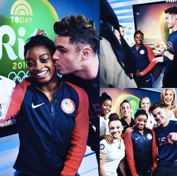 So, Simone Biles Finally Met Zac Efron And He Gave Her A