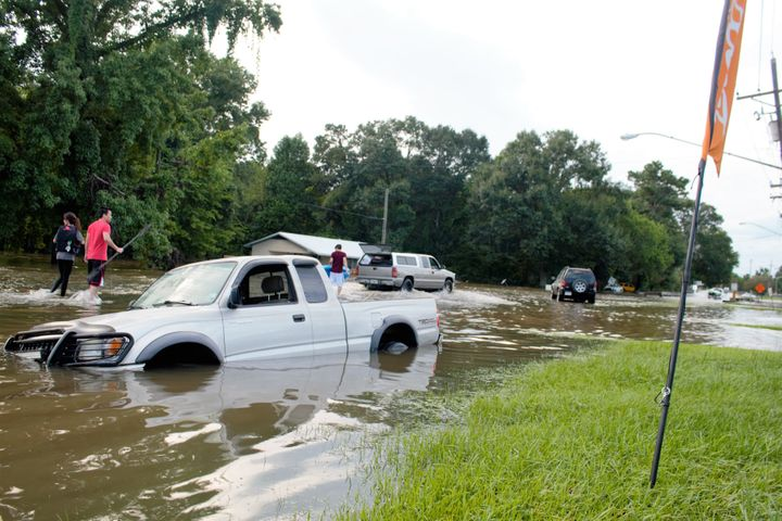 Thousands have been displaced following flooding in Baton Rouge.