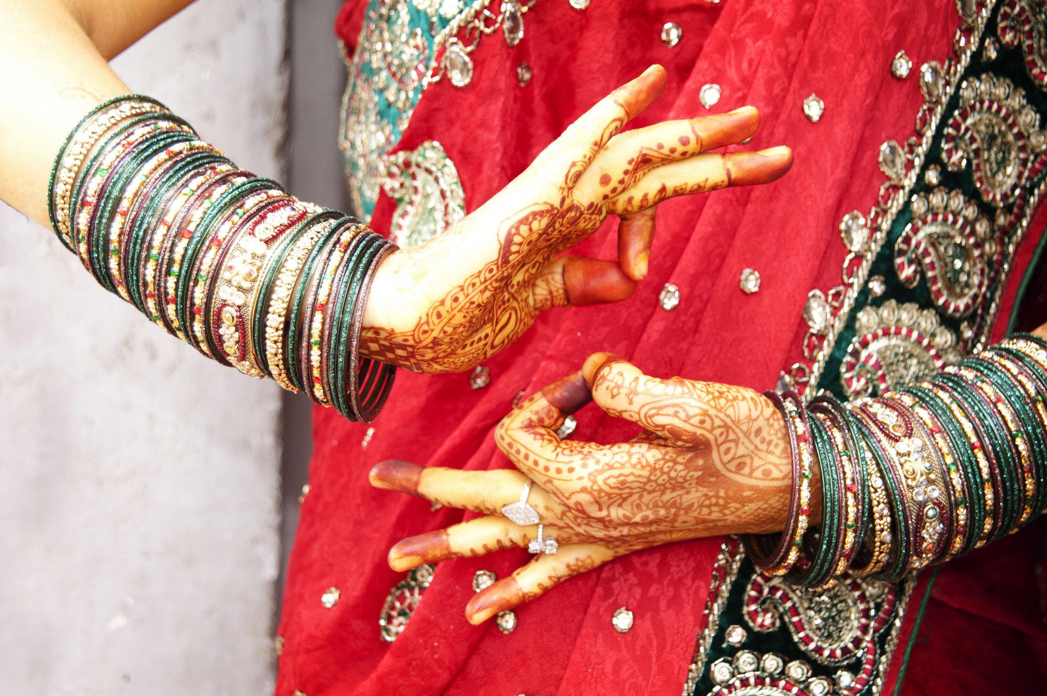 Beautiful bride dancing