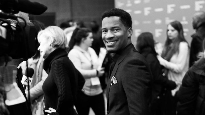 Nate Parker at a screening of <i>Birth of a Nation.</i>