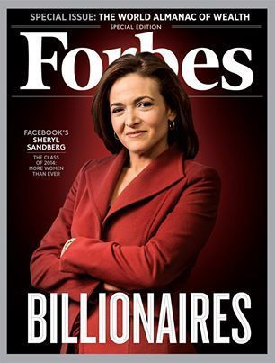 <i>Forbes&nbsp;</i>has ranked Sandberg as one of the ten most powerful women in the world.