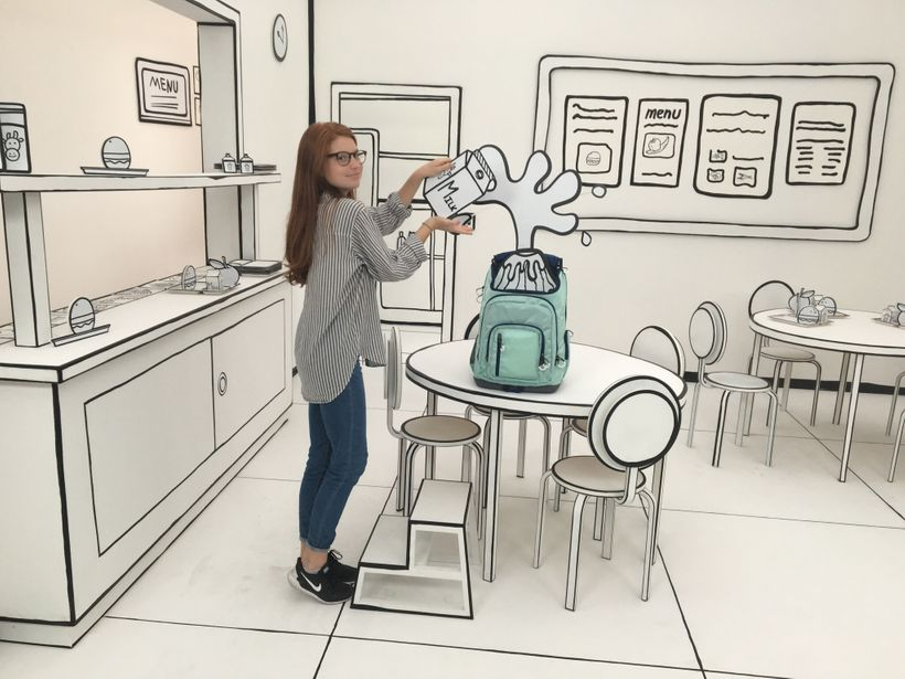 Amelia Conway on the set of Target's back-to-school campaign