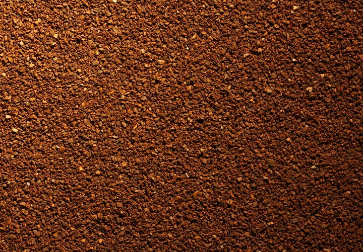 Close up of coffee grounds.