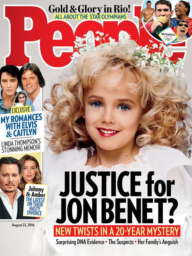 The Aug. 22 cover of People, featuring JonBenét Ramsey.