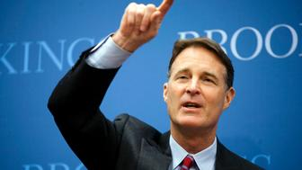 Former Senator Evan Bayh, a Democrat from Indiana, speaks during an event at the Brookings Institute in Washington, D.C., U.S., on Wednesday, Jan. 12, 2011. Panelists discussed how to build a long-term national strategy for U.S. economic growth based on innovation. Photographer: Brendan Hoffman/Bloomberg via Getty Images