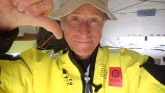 Stein Hoff, 70, has been rescued from his quest to row solo from New York City to England.