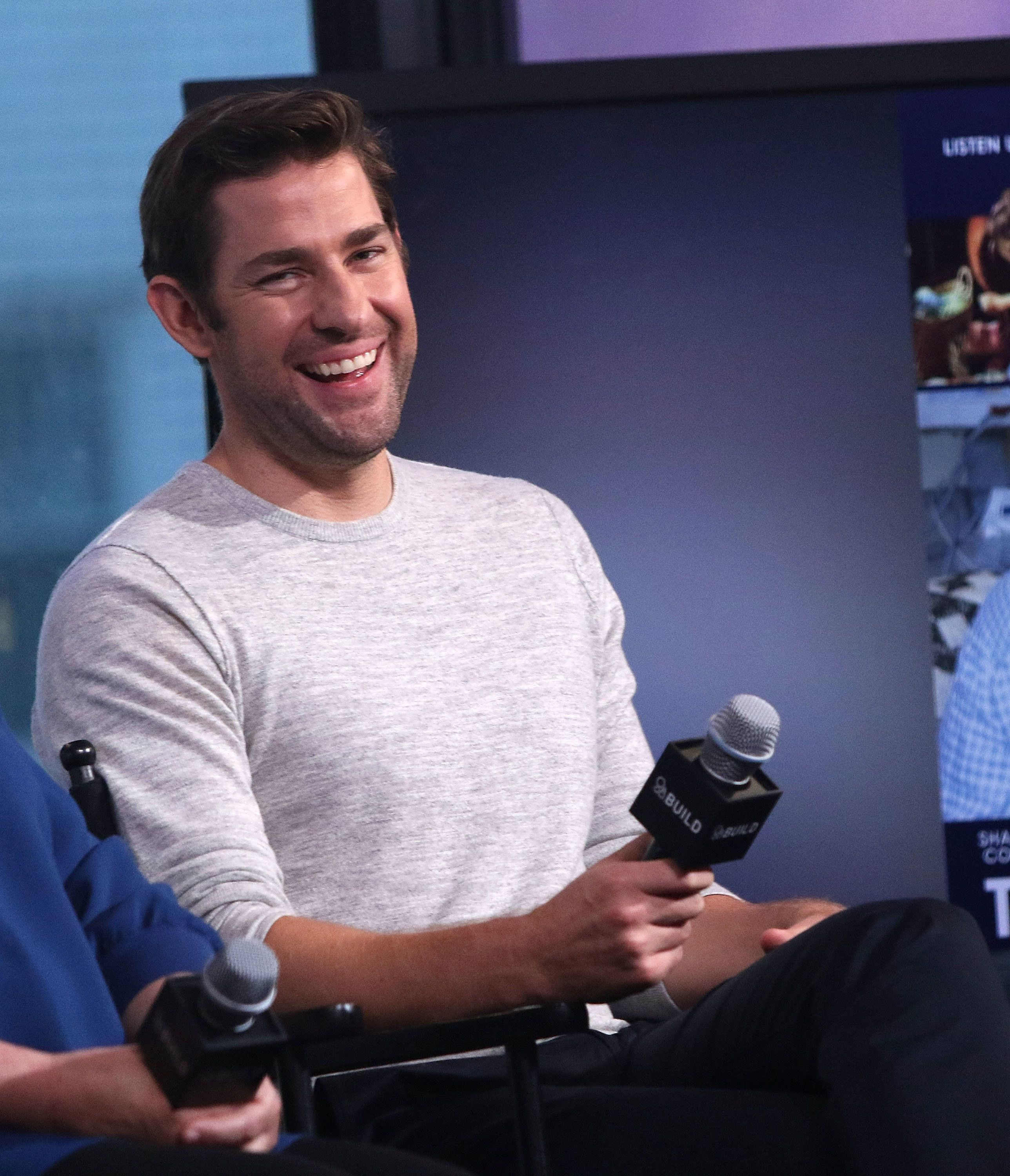 NEW YORK, NY - AUGUST 17:  John Krasinski  attends AOL Build Presents to discuss 'The Hollars' at AOL HQ on August 17, 2016 in New York City.  (Photo by Laura Cavanaugh/FilmMagic)