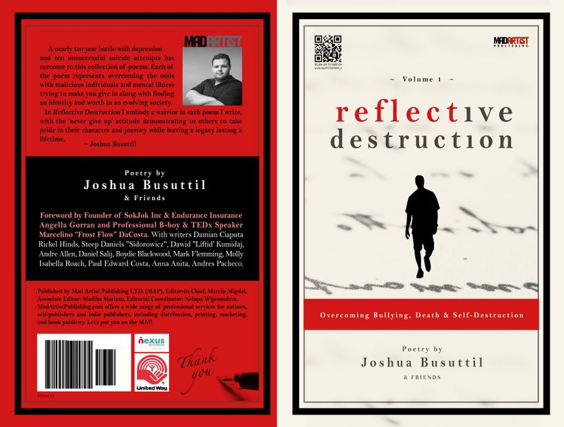 REFLECTIVE DESTRUCTION: Overcoming Bullying, Death and Self-Destruction by Joshua Busuttil. Order your signed copy at <a href