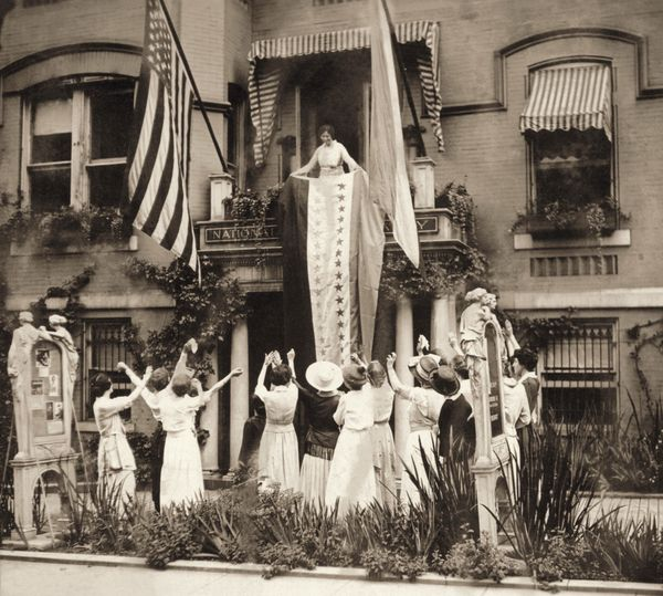 Suffrage badass-in-chief Alice Paul leading celebration of Tennessee's ratification of the 19th Amendment looks a bit like th