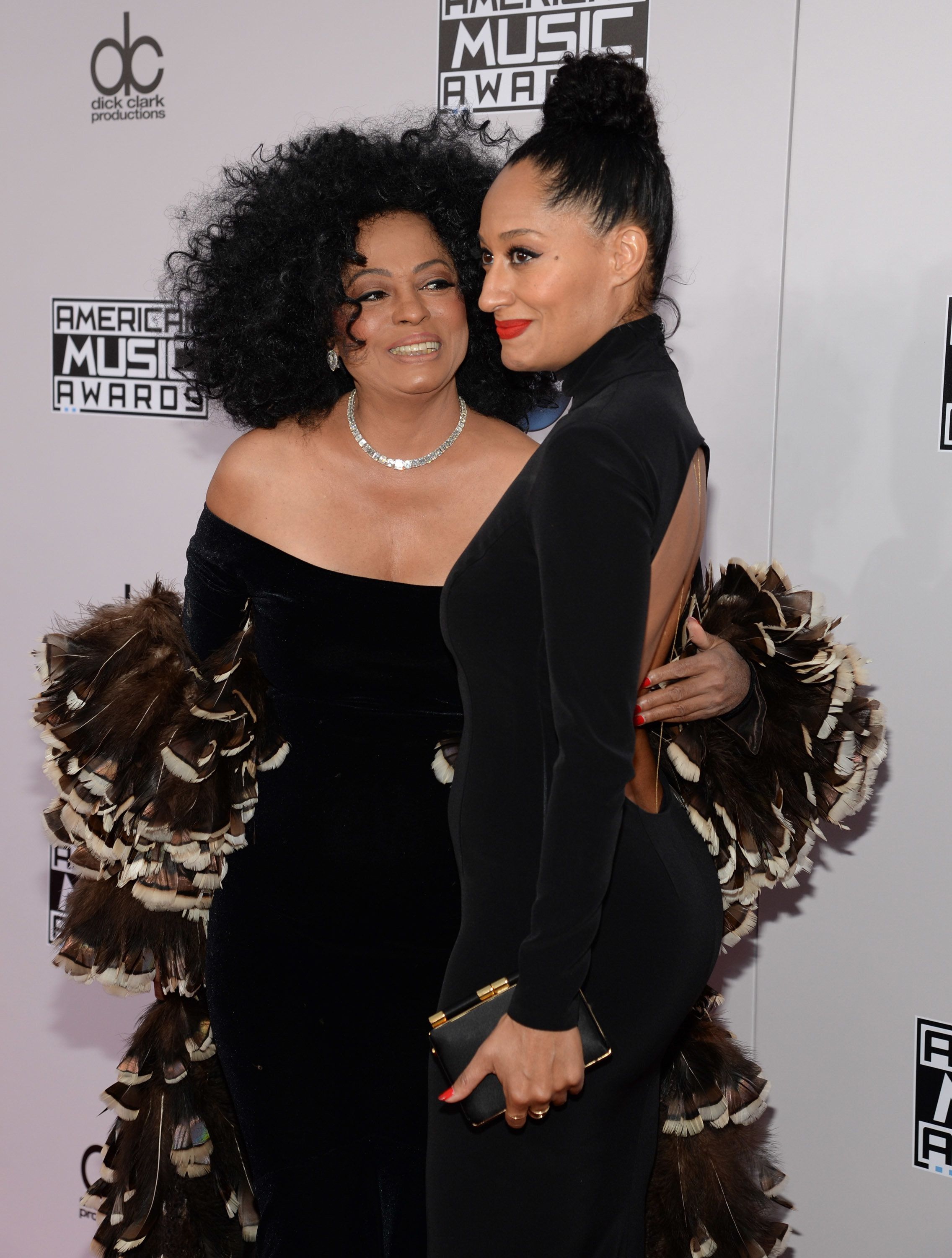 LOS ANGELES, CA - NOVEMBER 23:  Diana Ross and Tracee Ellis Ross attend the 2014 American Music Awards at Nokia Theatre L.A. Live on November 23, 2014 in Los Angeles, California.  (Photo by Kevin Mazur/AMA2014/WireImage)