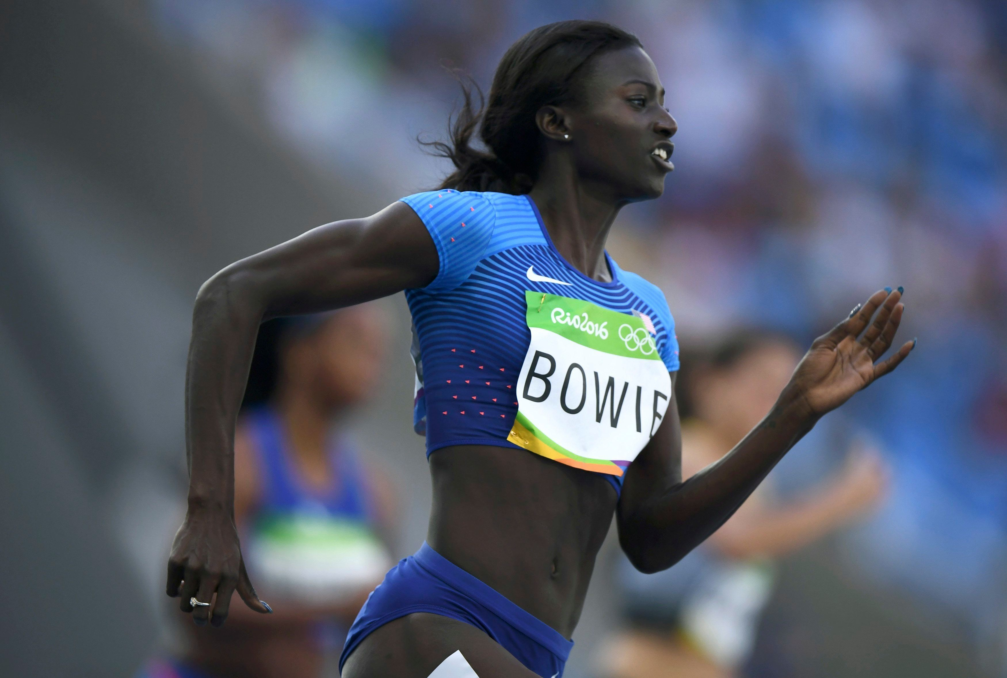 Tori Bowie could only place third during the 200m final.