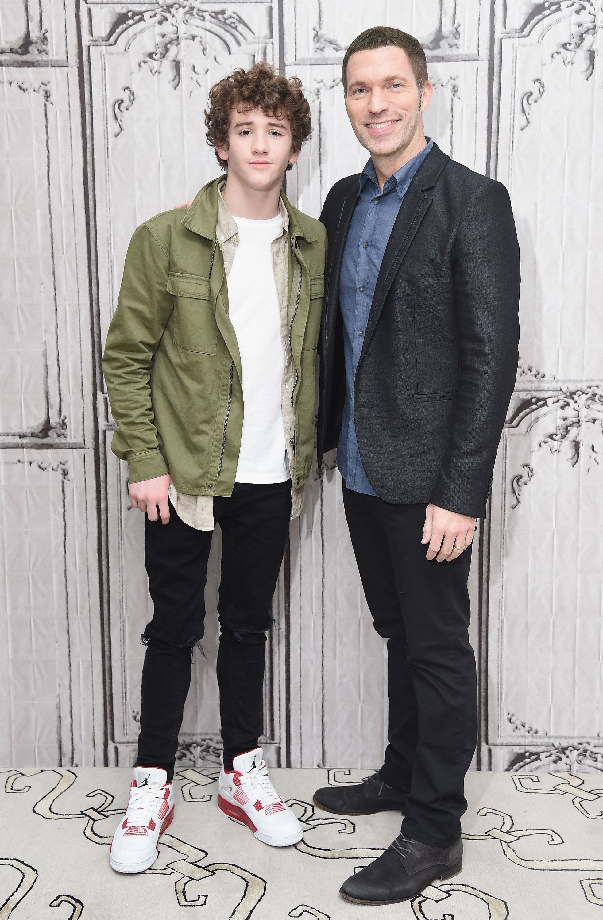 NEW YORK, NY - AUGUST 17:  Actor Art Parkinson (L) and director Travis Knight attend the discussion of the movie 'Kubo and the Two Strings' at AOL HQ on August 17, 2016 in New York City.  (Photo by Michael Loccisano/Getty Images)