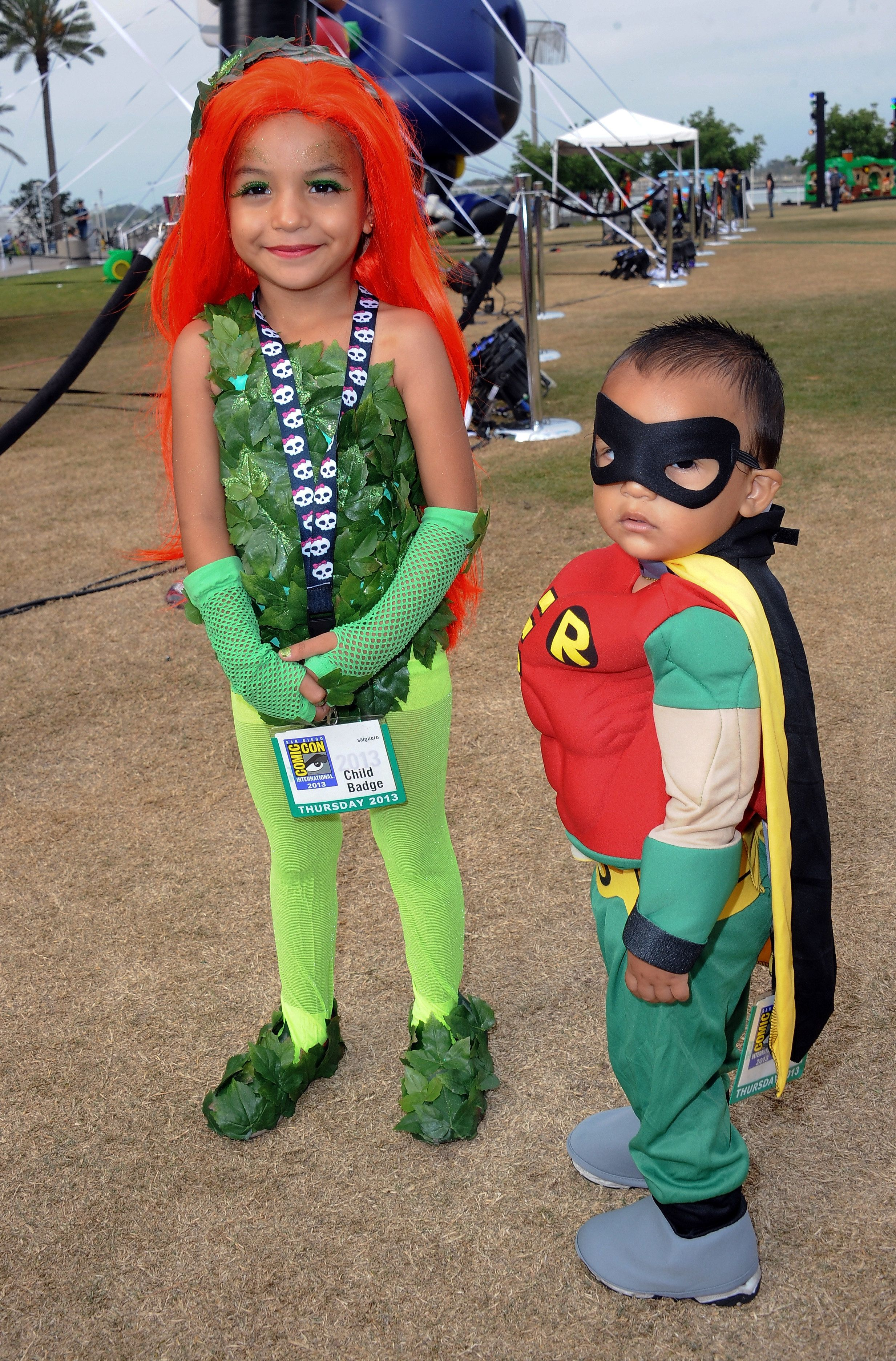SAN DIEGO CA - JULY 18 Cosplayers dressed as Poison Ivy and Robin attend  sc 1 st  HuffPost & 30 Of The Littlest Fans Geeking Out At Comic Cons | HuffPost
