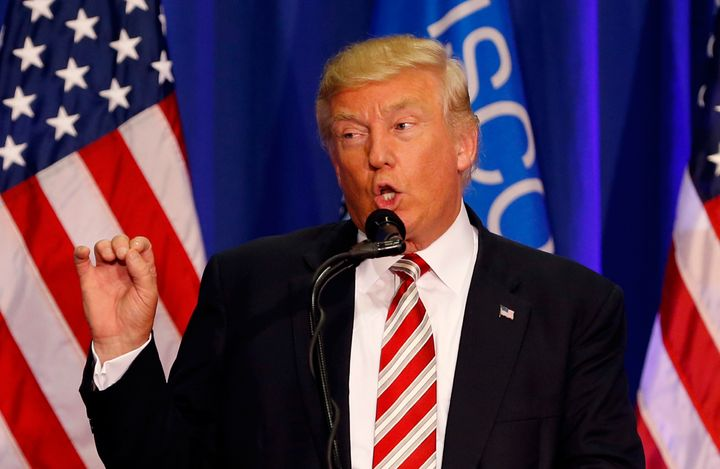 Donald Trump made his most aggressive appeal yet to African-American voters on Tuesday, but he convened amostly white,