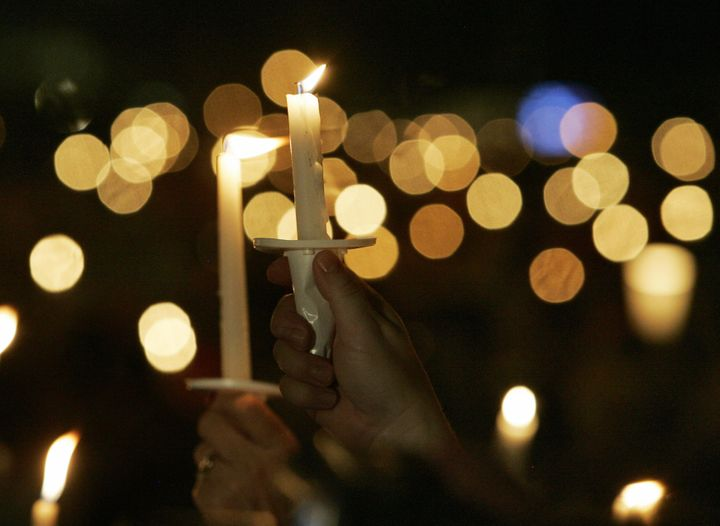 Graceland holds an annual candlelight vigil to remember Elvis.