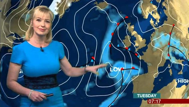 Several BBC weather presenters are facing the