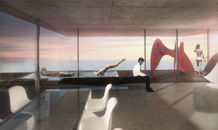 Meis Architects' design for a new, ultramodern lounging area.