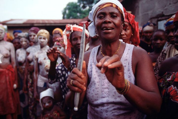 April 2002: Female circumcision ceremony. --- Photo by Louise Gubb/Corbis SABA | Location: Makeni Town, Sierra Leone.