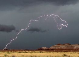 Amazing Photo Captures T-Rex Lightning Bolt