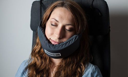 Yes, This Is A Head Hammock For Napping On Planes And It's