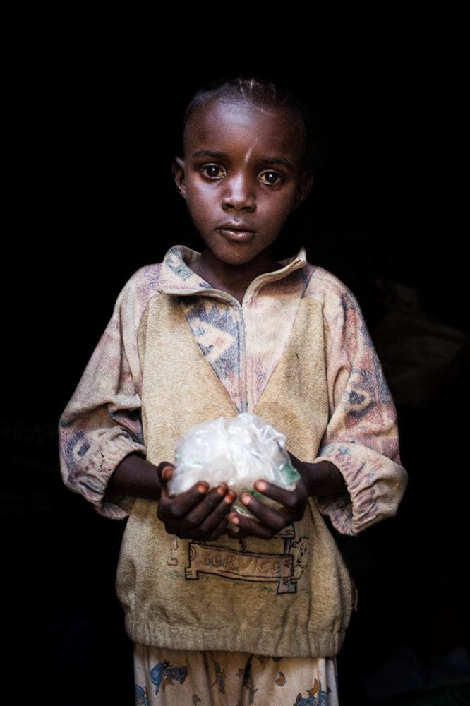 "<strong>Aladi, Central African Republic, future diamond miner:</strong> ""One day, I want to be a diamond collector."""