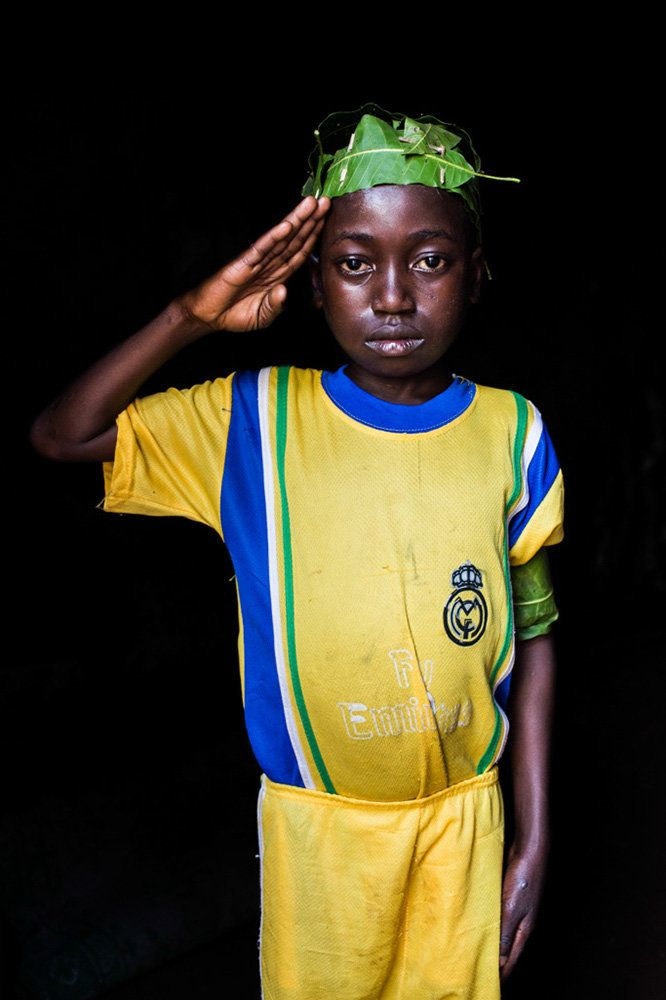 "<strong>Ibrahim, Central African Republic,&nbsp;future soldier:</strong>&nbsp;""One day, I will be a soldier."""