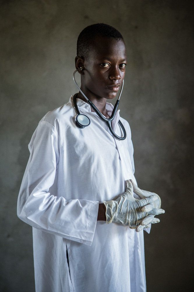 "<strong>Michael, Sierra Leone,&nbsp;future doctor:</strong>&nbsp;""One day, I will be a doctor to help people as they helped m"