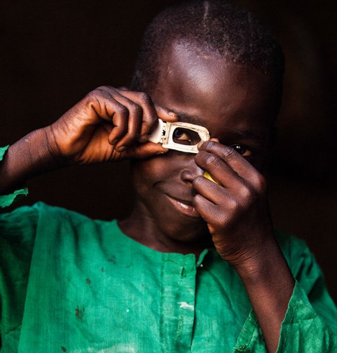 """When I grow up, I will be a photographer."" -- Mustafa, from Central African Republic"