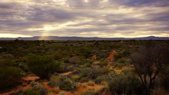Sun beam through cloud over  Flinders Ranges South Australia