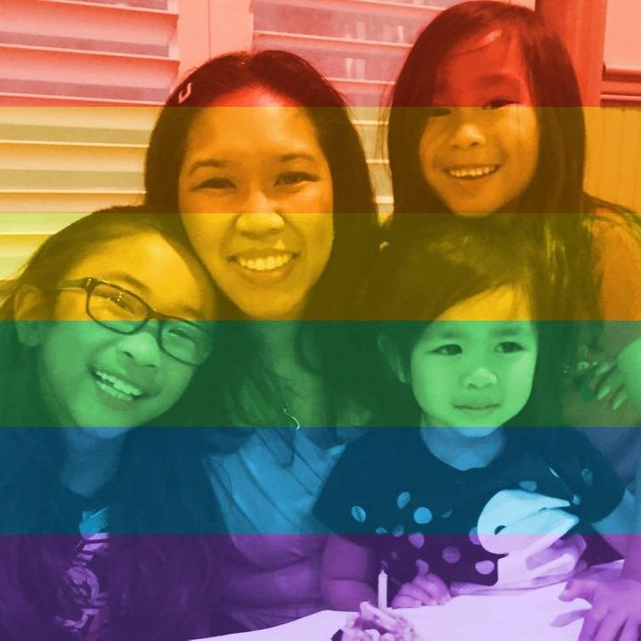 Even parents with young children changed their profile pictures to rainbows!