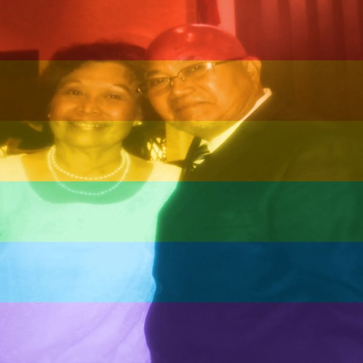 My parents changed their profile picture to rainbows!