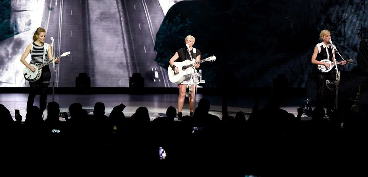 Emily Strayer, Natalie Maines, and Martie Maguire of the Dixie Chicks perform onstage during the DCX World Tour MMXVI Opener