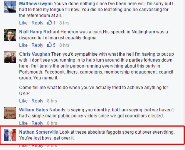 Ukip Youth Group Trade Islamophobic, Anti-Semitic And Homophobic Slurs In Secret Facebook